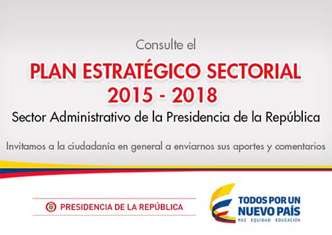 Plan Estratégico Sectorial 2017